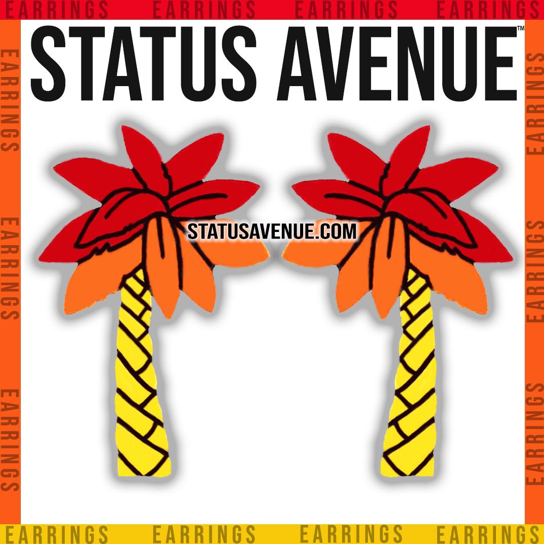 STATUS AVENUE™ palm trio earrings sunris