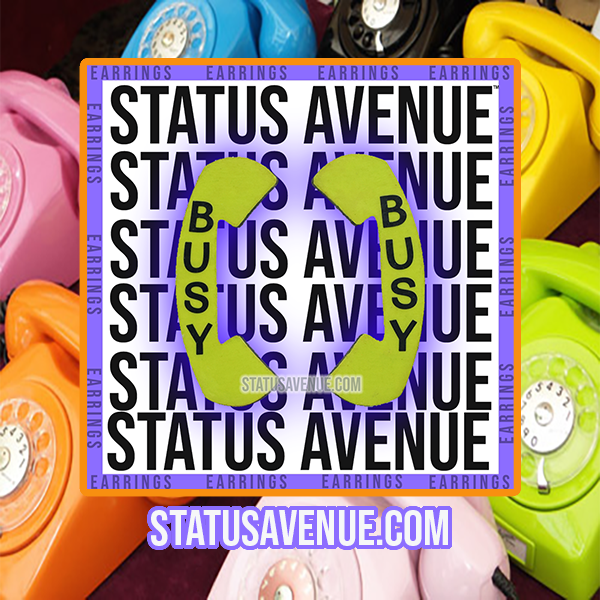 "Status Avenue™ Phone ""BUSY"" earrings.png"