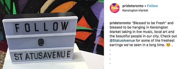 Status Avenue, celebrity earrings, pride toronto, fashion, statement piece earrings