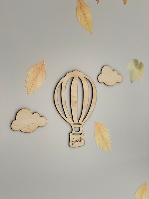 Hot Air balloon and clouds set