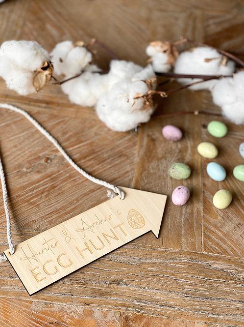 Egg Hunt Sign