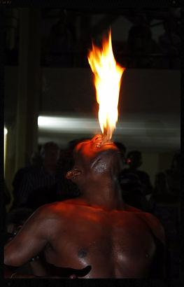 Sri Lanka - Fire Eater at a cultural show
