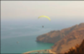 Paragliding six senses resort Oman