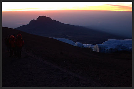 Photograph of sunrise Kilimanjaro (photograph by Distant Horizons Malta)