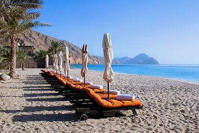 Beach at Six Senses Zighy Bay Oman