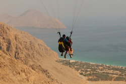 Paragliding in Oman Six Senses