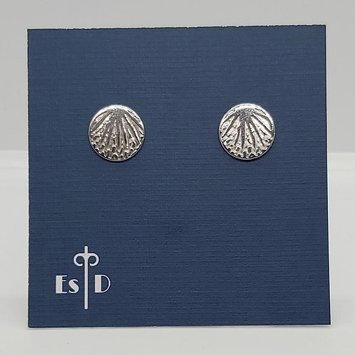 Palm Leaf Round Earrings
