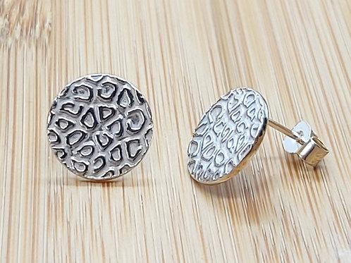 Leopard Print Round Earrings