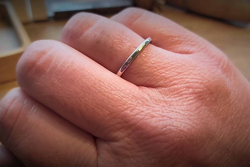 Planished Stacker Ring 2mm