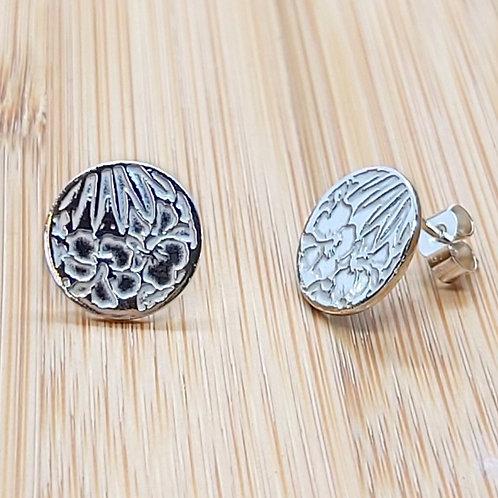 Hibiscus Round Earrings