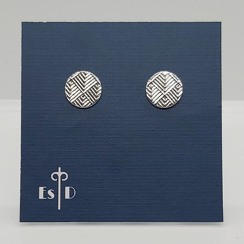 Art Deco Diagonal Round Earrings