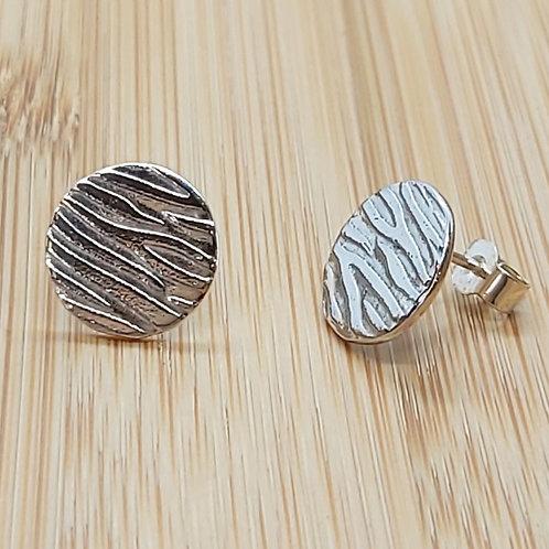 Zebra Stripes Round Earrings