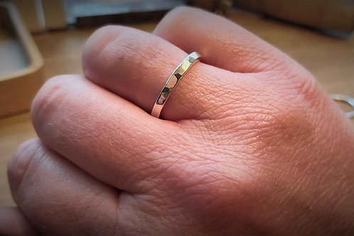 Planished Stacker Ring 2.5mm
