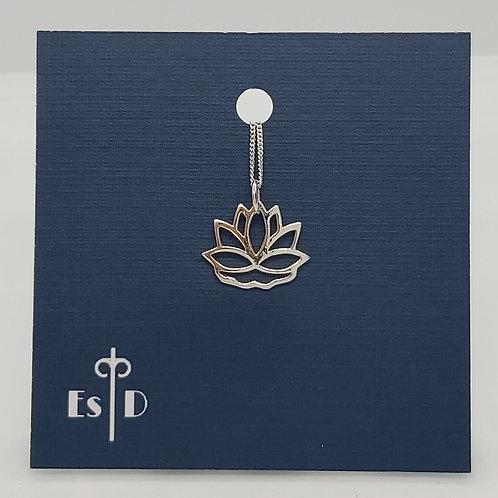 Art Deco Lotus Flower Pierced Pendant