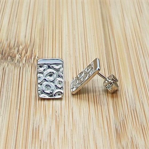 Lotus Seed Print Earrings