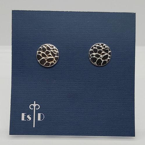 Giraffe Print Round Earrings