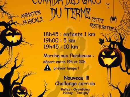 Tintigny le 31 octobre  : Corrida des Gros du Terme