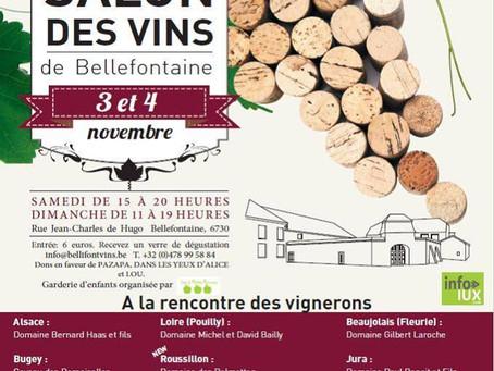 Salon des vins de Bellefontaine les 3 et 4 novembre