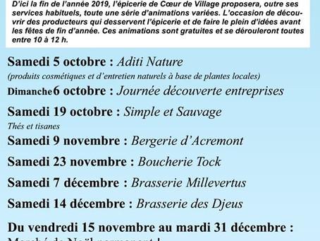"""Les activités de """"Coeur de Village"""" à Bellefontaine en ce dernier trimestre"""