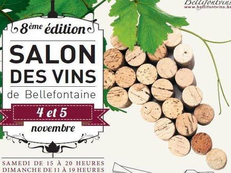 SALON DES VINS DE BELLEFONTAINE, les 4 et 5 novembre