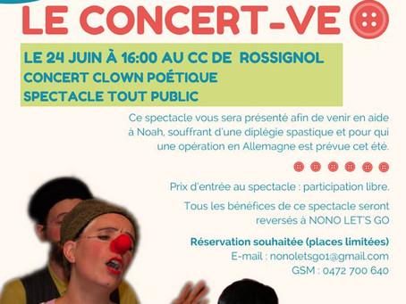 Le Concert-Ve, le 24 juin à 16h au CCRT