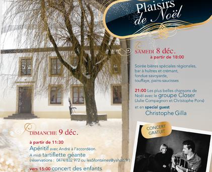 Plaisirs de Noël les 8 et 9 décembre à Bellefontaine