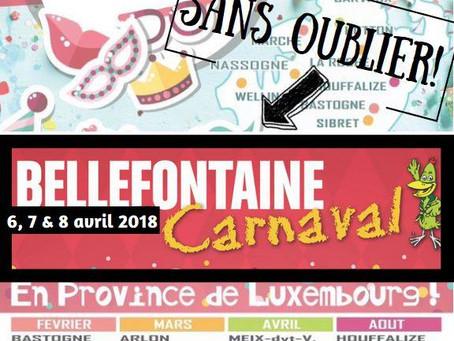 Carnaval de Bellefontaine les 6, 7 et 8 avril 2018