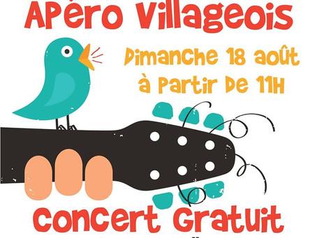 Apéro Village à Tintigny, le 18 août dès 11h
