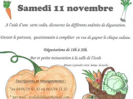 Rallye Soupe de l'école de Lahage, le samedi 11 novembre dès 18h00