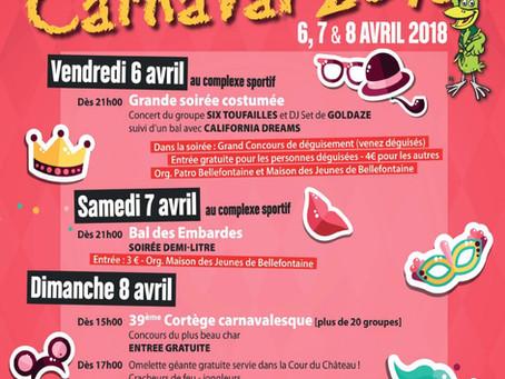 Carnaval à Bellefontaine les 6,7 et 8 avril