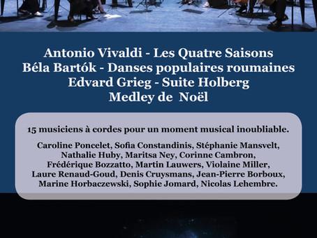 Concert de fin d'année à Tintigny le  décembre