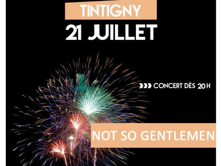 Concert et feux d'artifice à Tintigny le 21 juillet