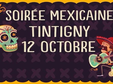 Soirée Mexicaine à Tintingy le 12 octobre
