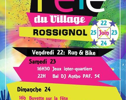 Fête du village à Rossignol du 22 au 25 juin