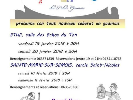 Cabaret en gaumais à Ethe les 19 et 20 janvier