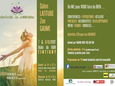 Salon LATITUDE Zen Gaume, Halle de Han les 7 et 8 octobre 2017