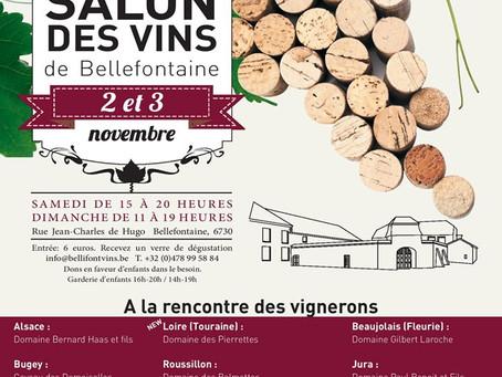 10e Salon des vins de Bellefontaine les 2 et 3 novembre