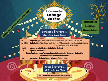 Fêtez la Saint-Hubert à Lahage le 5 novembre