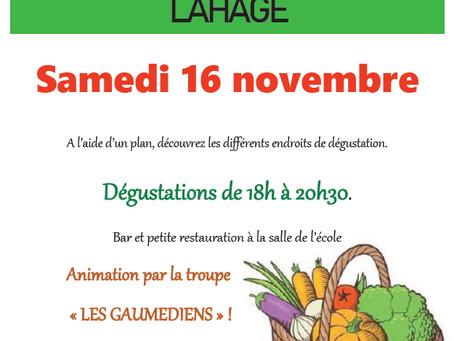 Rallye soupe à Lahage le 16 novembre