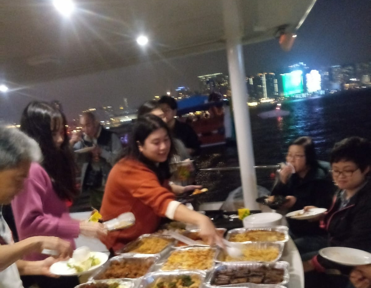 Catering on boat