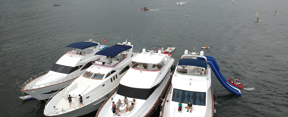 Corporate boat party
