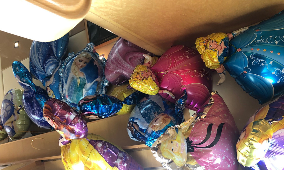 Balloons decoration on Infinity