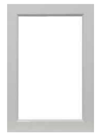 WHITE SATIN GLASS WALL DOORS SINGLE PANEL
