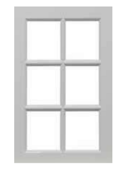 WHITE GLOSS GLASS WALL DOORS 6 PANEL