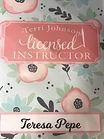 Terri Johnson Creates Licensed Instructor