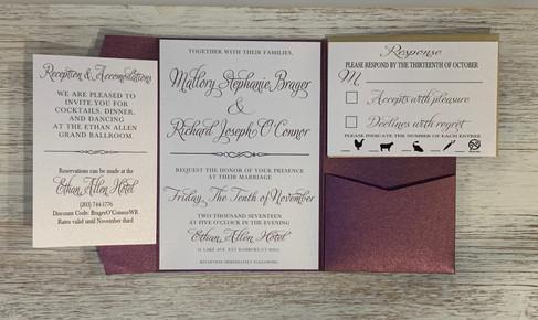 Timeless Pocket Wedding Invitation