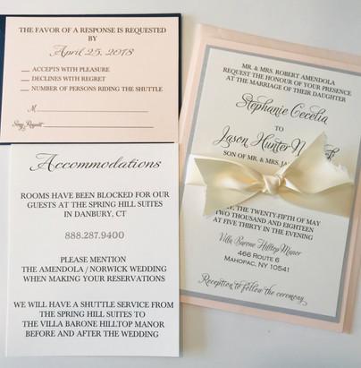 Romantic Wedding Invite Suite