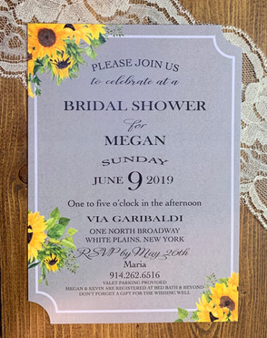 Sunflower Bridal Shower