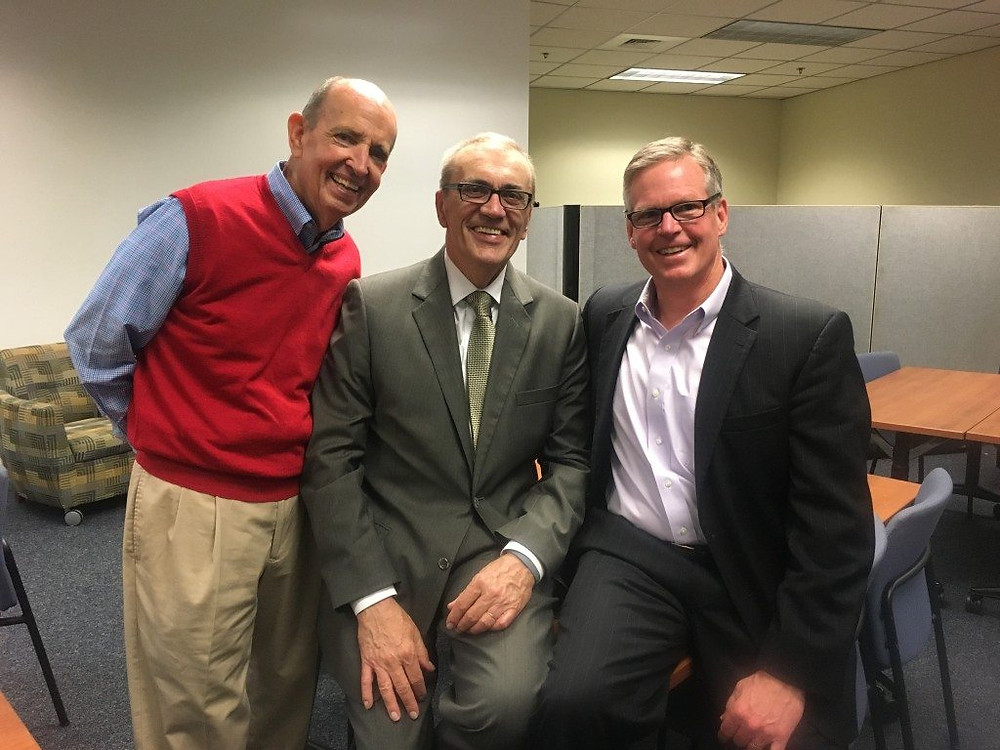 Tom Betts, Chairman Emeritus Carolinas Gateway Partnership; John Gessaman; Rob Radcliff, Managing Principal RDG
