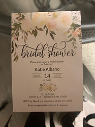 Custom party and shower invitations, centerpieces, flower walls and more
